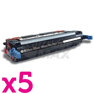 5 x HP Q6460A (644A) Generic Black Toner Cartridge - 12,000 Pages