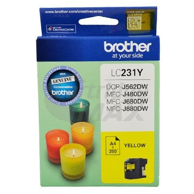 Brother LC-231 Original Yellow Ink Cartridge - 260 Pages