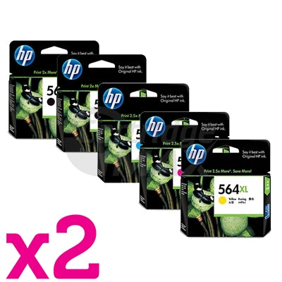 10 Pack HP 564XL Original Inkjet Cartridges CN684WA+CB323WA-CB325WA [4BK,2C,2M,2Y]