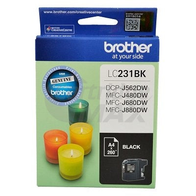 Brother LC-231 Original Black Ink Cartridge - 260 Pages