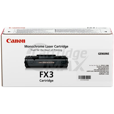 1 x Canon FX-3 Black Original Toner Cartridge