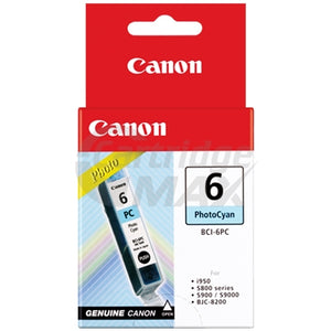 Original Canon BCI-6PC Photo Cyan Ink Cartridge