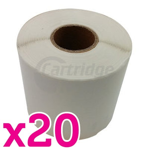 20 x Dymo SD0904980 Generic White Label Roll 104mm x 159mm - 220 labels per roll