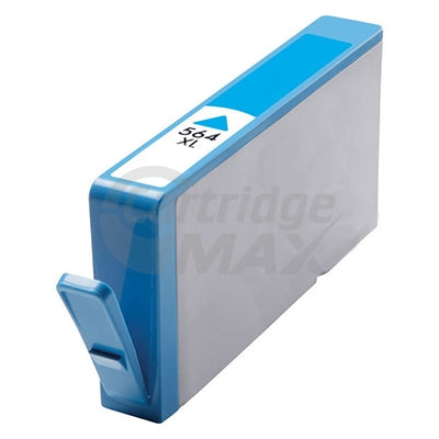 HP 564XL Generic Cyan High Yield Inkjet Cartridge CB323WA - 750 Pages