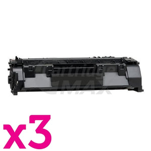 3 x HP CE505A (05A) Generic Black Toner Cartridge - 2,300 Pages