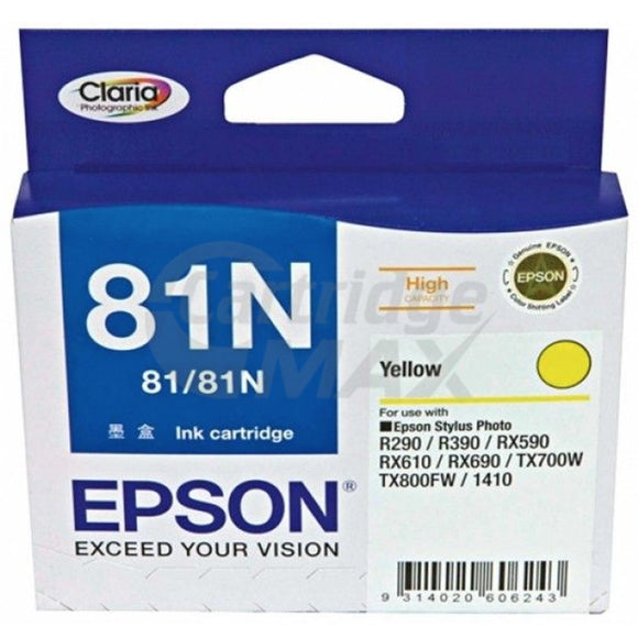 Original Epson T0814 81N HY Yellow Ink Cartridge - 805 pages [C13T111492]