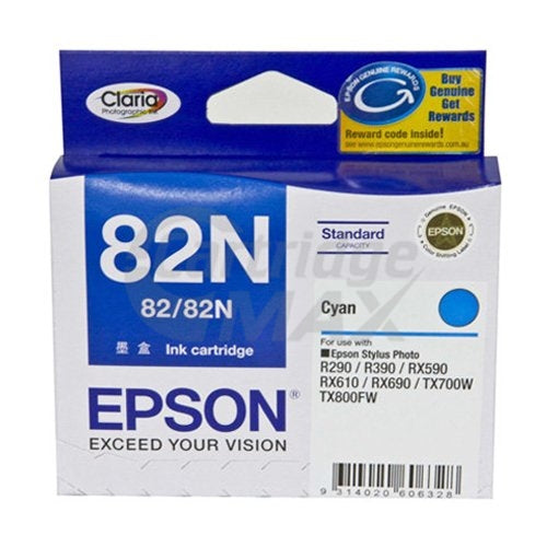 Original Epson T1122 82N Cyan Ink Cartridge