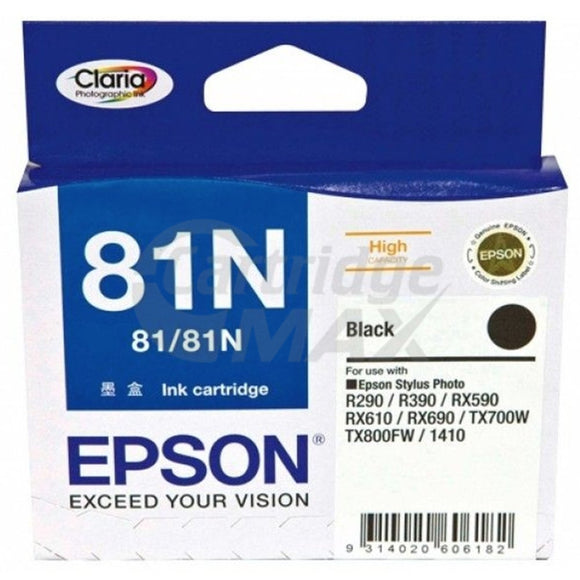 Original Epson T0811 81N HY Black Ink Cartridge - 520 pages [C13T111192]