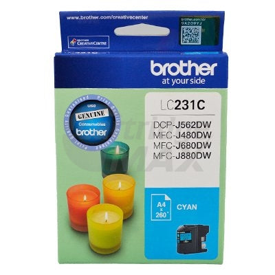 Brother LC-231 Original Cyan Ink Cartridge - 260 Pages