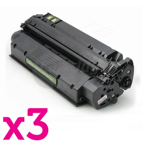3 x HP Q2613X (13X) Generic Black Toner Cartridge - 4,000 Pages