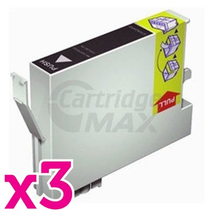 3 x Generic Epson T0811 81N HY Black Ink Cartridge - 480 pages [C13T111192]