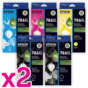 10 Pack Epson 786XL Original Ink Cartridge [C13T787192-C13T787492] [4BK,2C,2M,2Y]