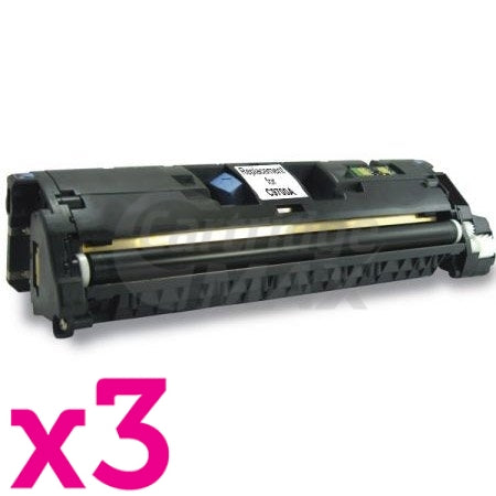 3 x HP C9700A (121A) Generic Black Toner Cartridge - 5,000 Pages