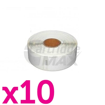10 x Dymo SD99012 / S0722400 Generic White Label Roll 36mm x 89mm - 260 labels per roll