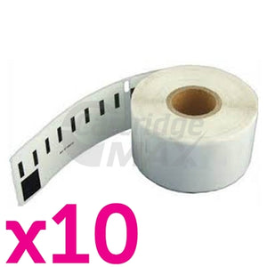 10 x Dymo SD99010 / S0722370 Generic White Label Roll 28mm x 89mm - 130 labels per roll