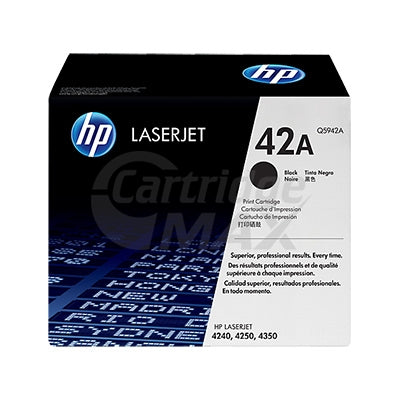 1 x HP Q5942A (42A) Original Black Toner Cartridge - 10,000 Pages