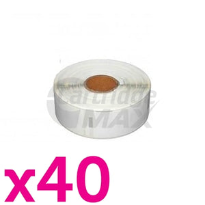 40 x Dymo SD99012 / S0722400 Generic White Label Roll 36mm x 89mm - 260 labels per roll