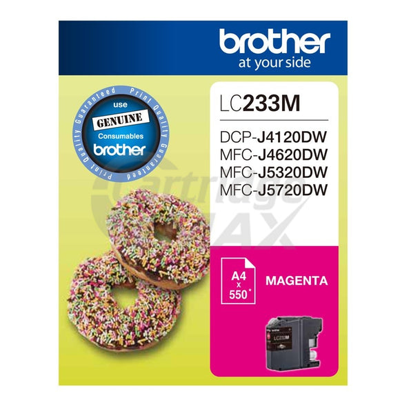 Original Brother LC-233M Magenta Ink Cartridge