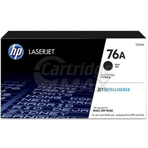 1 x HP 76A CF276A Original Black Toner Cartridge - 3,000 Pages