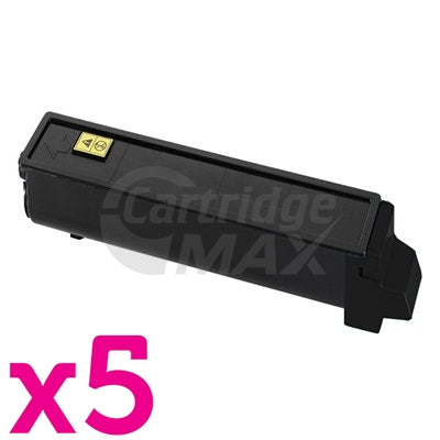 5 x Compatible TK-544K  Black Toner Cartridge For Kyocera FS-C5100DN