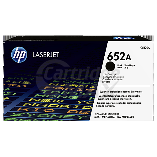 HP CF320A (652A) Original Black Toner Cartridge  - 11,500 Pages