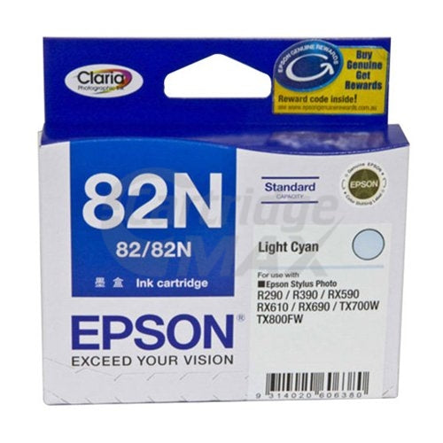 Original Epson T1125 82N Light Cyan Ink Cartridge