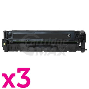 3 x HP CB540A (125A) Generic Black Toner Cartridge - 2,200 Pages