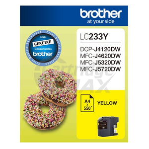 Original Brother LC-233Y Yellow Ink Cartridge