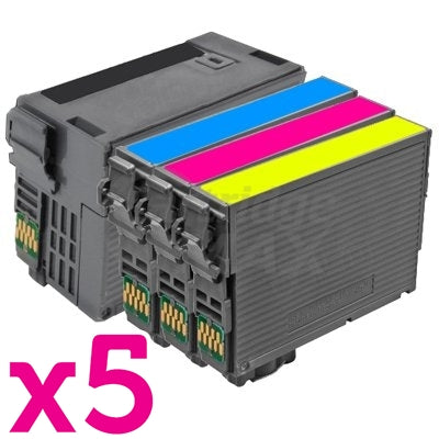 20 Pack Epson 254XL + 252XL Generic Ink Cartridges [C13T254192, C13T253292-C13T253492][5BK,5C,5M,5Y]