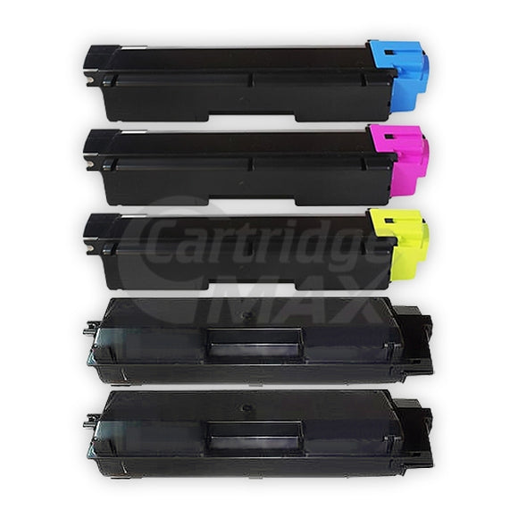 5 Pack Compatible for TK-594 Toner Cartridges suitable for Kyocera FS-C2026MFP, FS-C2126MFP, FS-C2526MFP, FS-C2626MFP, FS-C5250DN, M-6026CDN, M-6526CDN, P-6026CDN [2BK,1C,1M,1Y]