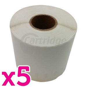 5 x Dymo SD0904980 Generic White Label Roll 104mm x 159mm - 220 labels per roll