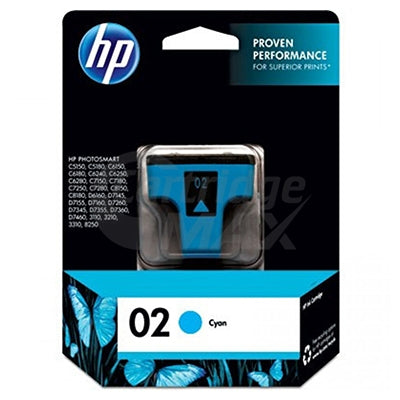 HP 02 Original Cyan Inkjet Cartridge C8771WA