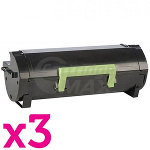 3 x Lexmark 503H (50F3H00) Generic MS310 / MS312 / MS410 / MS415/ MS510 / MS610 High Yield Toner Cartridge