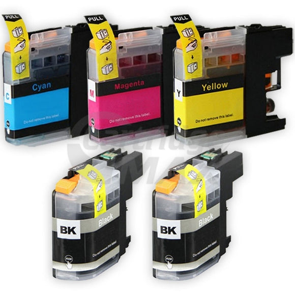 5 Pack Brother LC-233 Generic Ink Cartridges [2BK,1C,1M,1Y]
