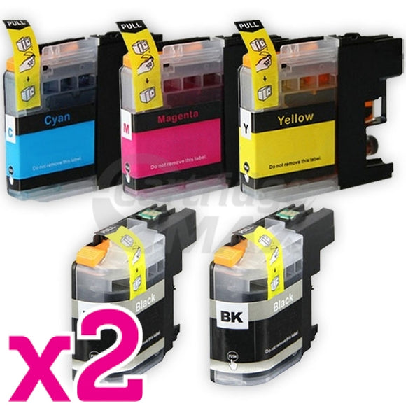 10 Pack Brother LC-233 Generic Ink Cartridges [4BK,2C,2M,2Y]