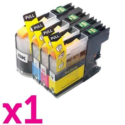 4 Pack Brother LC-239XL/LC-235XL High Yield Generic Ink Combo [1BK,1C,1M,1Y]