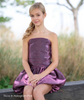 Red Carpet Cotillion Dress Metallic with Bubble Skirt Hologram