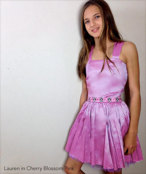 Bat Mitzvah Dress with Straps Cherry Blossom