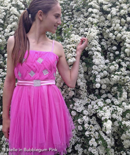 Bat Mitzvah Sparkly Tulle Dress Bubblegum