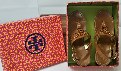 TORY BURCH Cow Hide Wedge Sandals