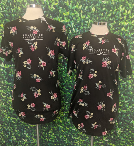 Pair of Hollister Floral Print Shirts L