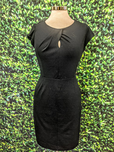 Banana Republic Keyhole Fitted Black Dress 0P