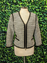 Load image into Gallery viewer, White House Black Market Contrast Tweed Jacket 6