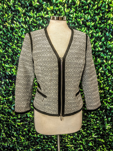 White House Black Market Contrast Tweed Jacket 6