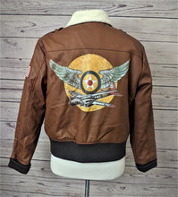 Load image into Gallery viewer, Disney Captain Marvel Bomber Jacket XL (Youth)