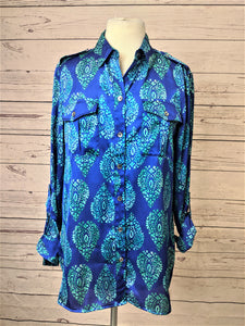 Jones New York Signature Teardrop Blouse M