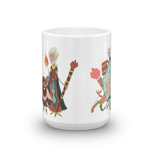 "Load image into Gallery viewer, ""New Crits on the Block"" Mug by Kristy Flanigan"
