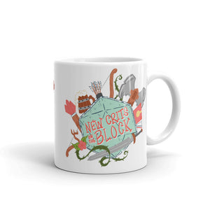 """New Crits on the Block"" Mug by Kristy Flanigan"