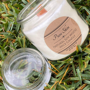 Pure Skin Natural Soy Wood Wick Candle