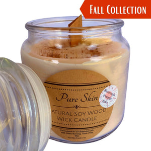 Pure Skin Pumpkin Buttercream Spice Soy Wood Wick Candle